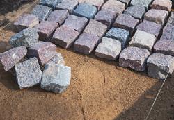 Pose de pierres naturelles